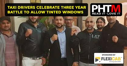 TAXI DRIVERS CELEBRATE THREE YEAR BATTLE TO ALLOW TINTED WINDOWS