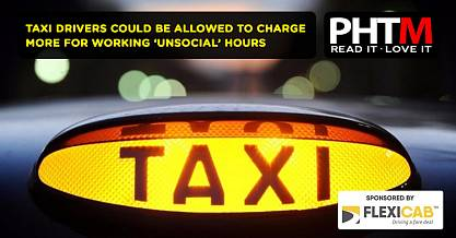 TAXI DRIVERS COULD BE ALLOWED TO CHARGE MORE FOR WORKING 'UNSOCIAL' HOURS