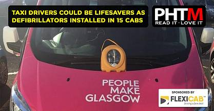TAXI DRIVERS COULD BE LIFESAVERS AS DEFIBRILLATORS INSTALLED IN 15 CABS