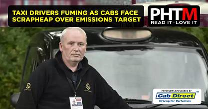 TAXI DRIVERS FUMING AS CABS FACE SCRAPHEAP OVER EMISSIONS TARGET