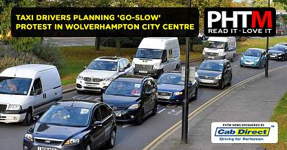 TAXI DRIVERS PLANNING GO SLOW PROTEST IN WOLVERHAMPTON CITY CENTRE