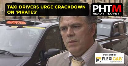 TAXI DRIVERS URGE CRACKDOWN ON PIRATES