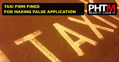 TAXI FIRM FINED FOR MAKING FALSE APPLICATION