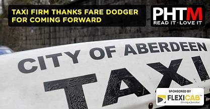 TAXI FIRM THANKS FARE DODGER FOR COMING FORWARD