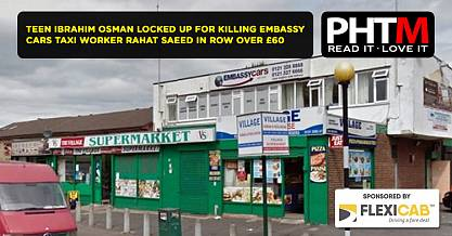 TEEN IBRAHIM OSMAN LOCKED UP FOR KILLING EMBASSY CARS TAXI WORKER RAHAT SAEED IN ROW OVER 60