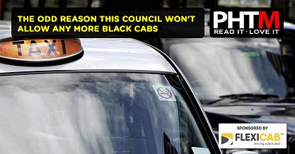 THE ODD REASON THIS COUNCIL WON'T ALLOW ANY MORE BLACK CABS