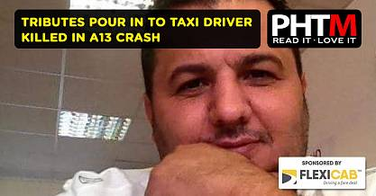 TRIBUTES POUR IN TO TAXI DRIVER KILLED IN A13 CRASH
