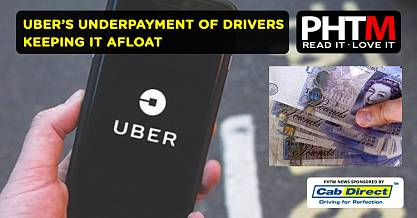 UBERS UNDERPAYMENT OF DRIVERS KEEPING IT AFLOAT