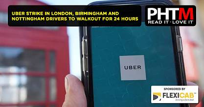 UBER STRIKE IN LONDON, BIRMINGHAM AND NOTTINGHAM DRIVERS TO WALKOUT FOR 24 HOURS