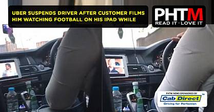 UBER SUSPENDS DRIVER AFTER CUSTOMER FILMS HIM WATCHING FOOTBALL ON HIS IPAD WHILE