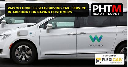 WAYMO UNVEILS SELF DRIVING TAXI SERVICE IN ARIZONA FOR PAYING CUSTOMERS